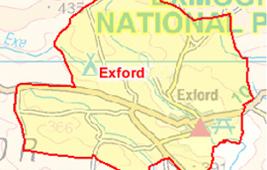 Exford Parish Map