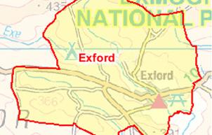 Exford Parish Map