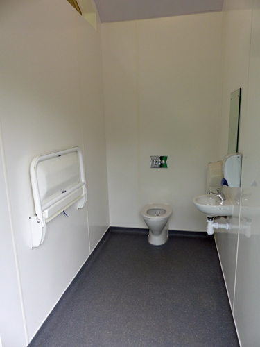 New public toilets at Exford - August 2016